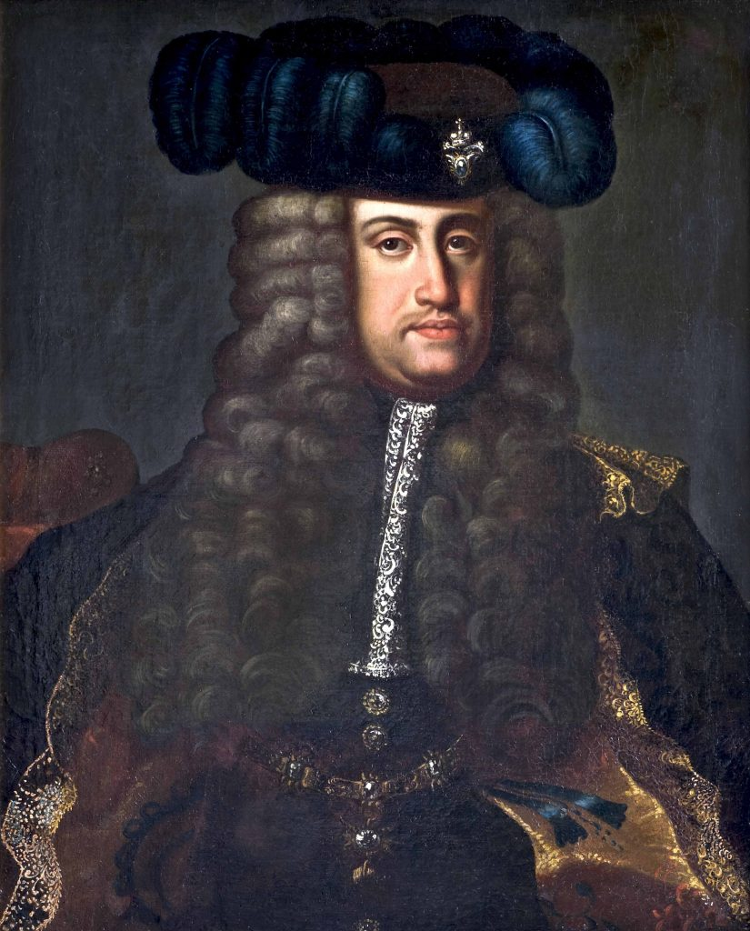 Johann Gottfried Auerbach (Mühlhausen, Turingia 1697-Vienna 1743; copia da) Ritratto dell'imperatore Carlo VI 1735-1740 (data dell'originale) olio su tela acquisto Luigi Tronconi, 26.05.1881 CMSA inv. 14745