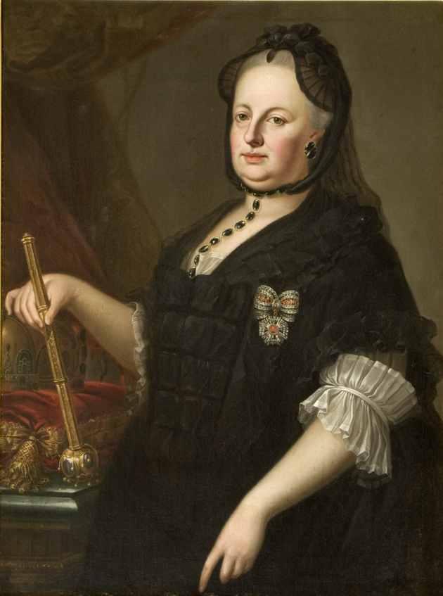 Anton von Maron (Vienna 1733-Roma, 1808; desunto da) Ritratto di Maria Teresa in abiti vedovili - 1765-1780 - olio su tela legato Antonio Caccia, 10.05.1929 CMSA inv. 14772